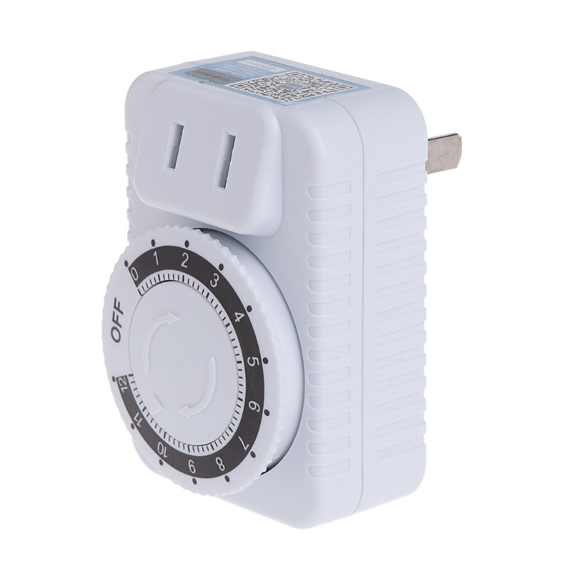 Timer Ac 220 V 12 Stunde Elektrische Mechanische Timer Wand Stecker Schalter Digitale Countdown-timer Steckdose