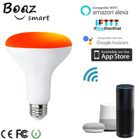 Boaz EC 9W Smart Wifi BR30 Bulb Remote Control Changeable Smart Led Bulb Light Alexa Echo Google Home IFTTT Tuya Smart