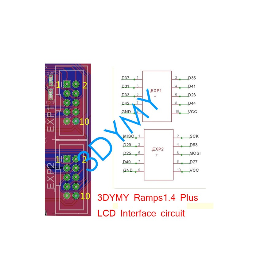 new version 3dymy ramps 1 4 plus 3d printer control board wiring diagram for 1 4-plug ramps1 4plus connection
