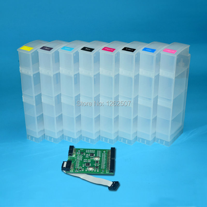 Wholesale for hp ink cartridges for hp 91 designjet z6100 printers refillable ink cartridge with chip decoder hp27 black cartridge for hp c8727a reman cartridges print heads free shipping full ink