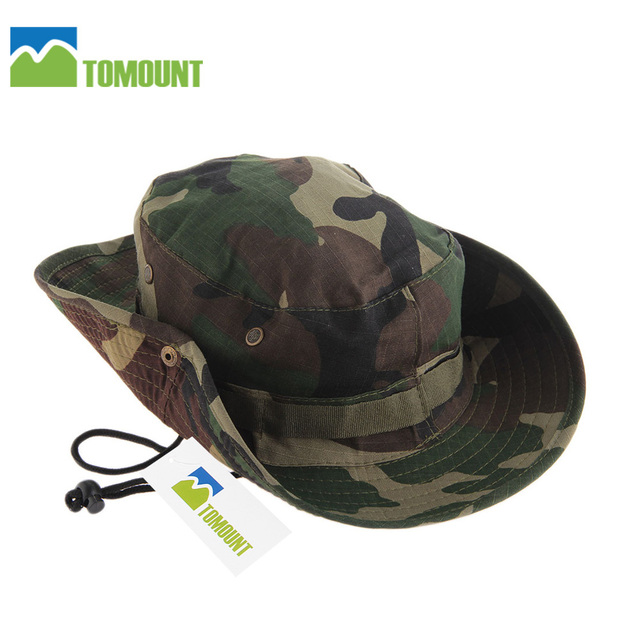 def1d483e9414 TOMOUNT Hiking Hat 56 cm AUTO Military Army Bush Jungle Camo Bucket Boonie  Hat Cap Fishing Hiking Camping Hat Outdoor Sports