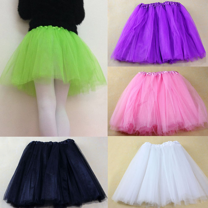 Adult Ballet Skirt Women's Pretty Girl Elastic Stretchy Tulle Tutu 3 Layer Skirt Party Dance Princess Miniskirt 5.27