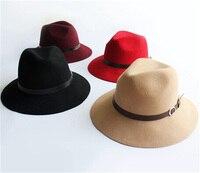 12 יח'\חבילה גברים הרגיש אופנה כובע חורף כובעי מגבעת צמר נשים צמר סתיו כובע תקליטונים ברים מגבעות לבד טרילבי Caps אביב גברת בתפזורת