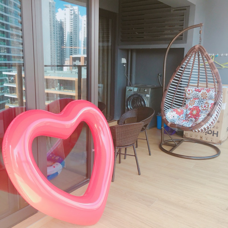Adult 100cm Heart Swim Ring INS Inflatable Summer Seat Raft Swimming Ride-On Float bathing toys Water pool tube