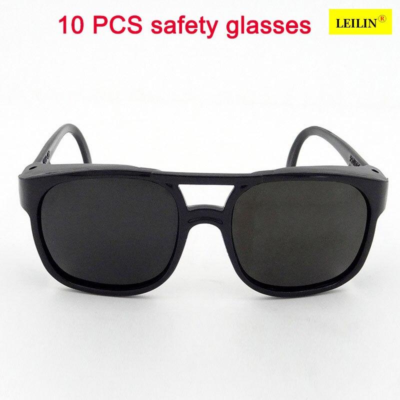 10 шт. высокое качество защитные очки темно-зеленый ПК лазерной очки ударопрочность УФ-защита, защитные очки сварки