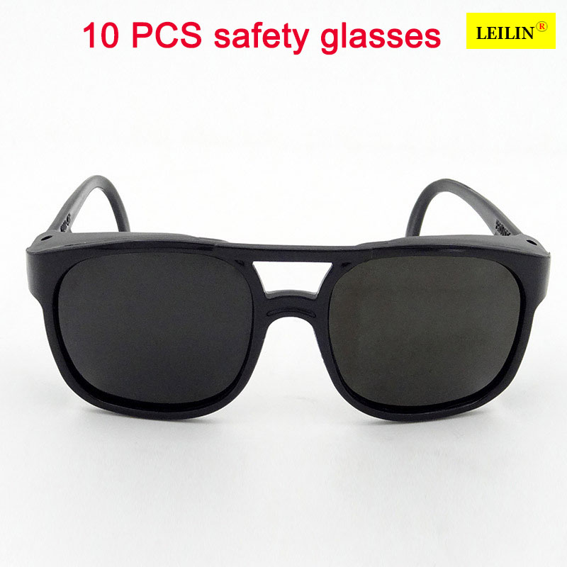 10 PCS High Quality protective glasses safety Dark green PC laser goggles shock resistan ...