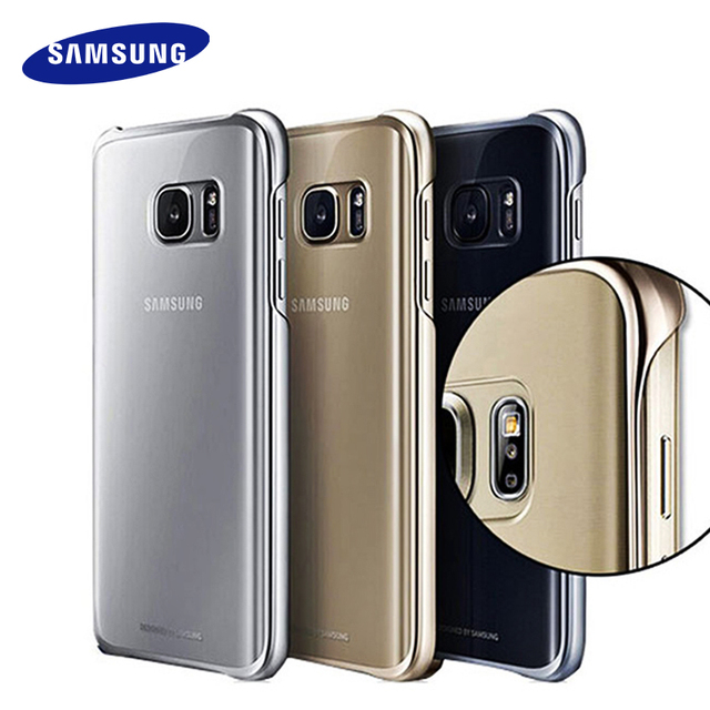 the best attitude 1c6ab 96d9f US $5.59 65% OFF|100% Original Samsung S7 S7 Edge Case Transparent  protective shell Ultra Slim Back Protective Case for samsung s7 Clear Cover  -in ...