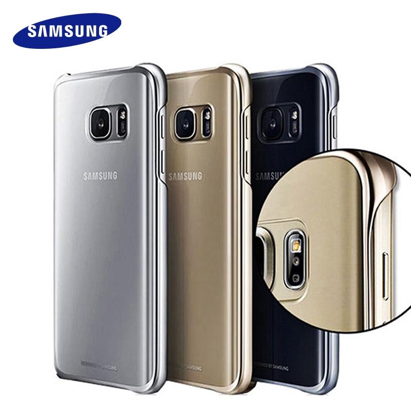100% Originale Per Samsung S7 s7 Cassa Bordo Trasparente guscio protettivo Ultra Sottile Trasparente Della Copertura Posteriore Custodia Protettiva per samsung s7