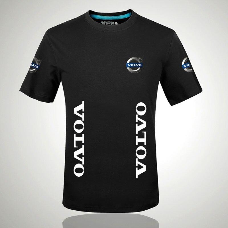 Brand printing Volvo logo 100%   T     shirt   Summer men short sleeve   T     shirt   Wholesale