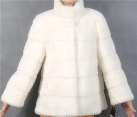 2019 Winter Frau Mode mit einem Kragen kurze weiße Farbe - Damenbekleidung - Foto 4