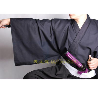 Top Quality Traditional Kendo costuuume Cotton fiber/wide sleeved surplice styles Samurai Iaido Kendo long-sleeve giFreeShipping gathered sleeve surplice wrap dress