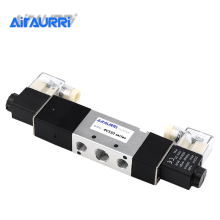 4V330-10 5Way 3Position Dual Solenoid Pneumatic Air Valve 3/8 BSPT DC12V DC24V AC110V AC220V free shipping 2pcs good qualty 5 port 2 position solenoid valve 4v420 15 have dc24v dc12v ac24v ac36v ac110v ac220v ac380v