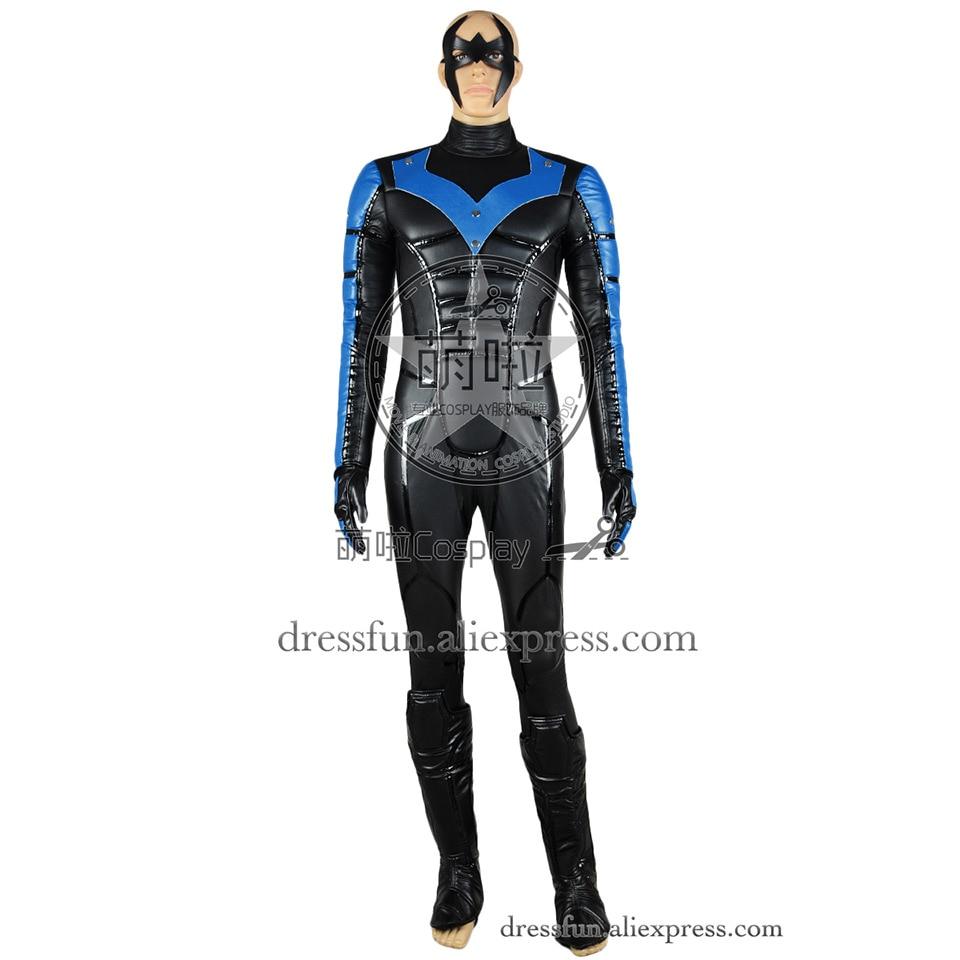 Batman Arkham City Cosplay Nightwing Costume Uniform ...