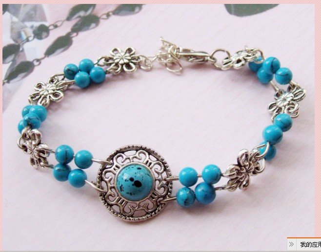 ZY24 Новая мода ретро тибетский серебряный tube круглый шарик цвет браслеты для Для женщин ювелирные изделия ID