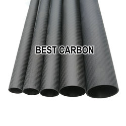 Free shipping OD4mm,5mm,6mm,7mm,8mm ,10mm, 12mm with 500mm length High Quality Twill Matte 3K Carbon Fiber Fabric Wound Tube