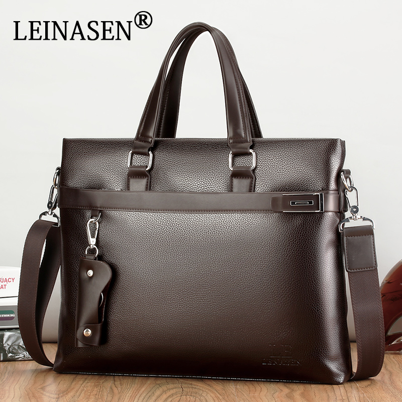 2017 Men Casual Briefcase Business Shoulder Bag Leather Messenger Bags Computer Laptop Handbag Bag Men's Travel Bags 2017 men casual briefcase business shoulder bag leather messenger bags computer laptop handbag bag men s travel bags