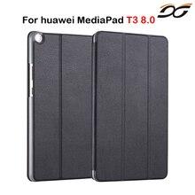 Para Huawei MediaPad Caso T3 8.0 KOB-L09 KOB-W09 tri-fold Soporte Cubierta de Cuero para Huawei Honor Juego Pad 2 8.0 pulgadas