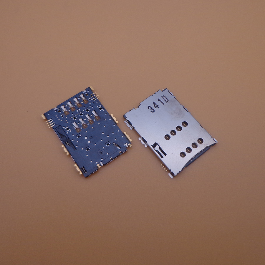 2pcs/lot SIM Reader Card Slot socket connector Holder Port Replacement Repair For Samsung <font><b>Galaxy</b></font> <font><b>Tab</b></font> <font><b>GT</b></font>-<font><b>P1000</b></font> <font><b>GT</b></font>-P3100 <font><b>GT</b></font>-P6200 image