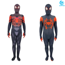 3D printing Miles Morales Amazing Spider-Man Cosplay Costume Zentai Spiderman Pattern Bodysuit Suit Jumpsuits