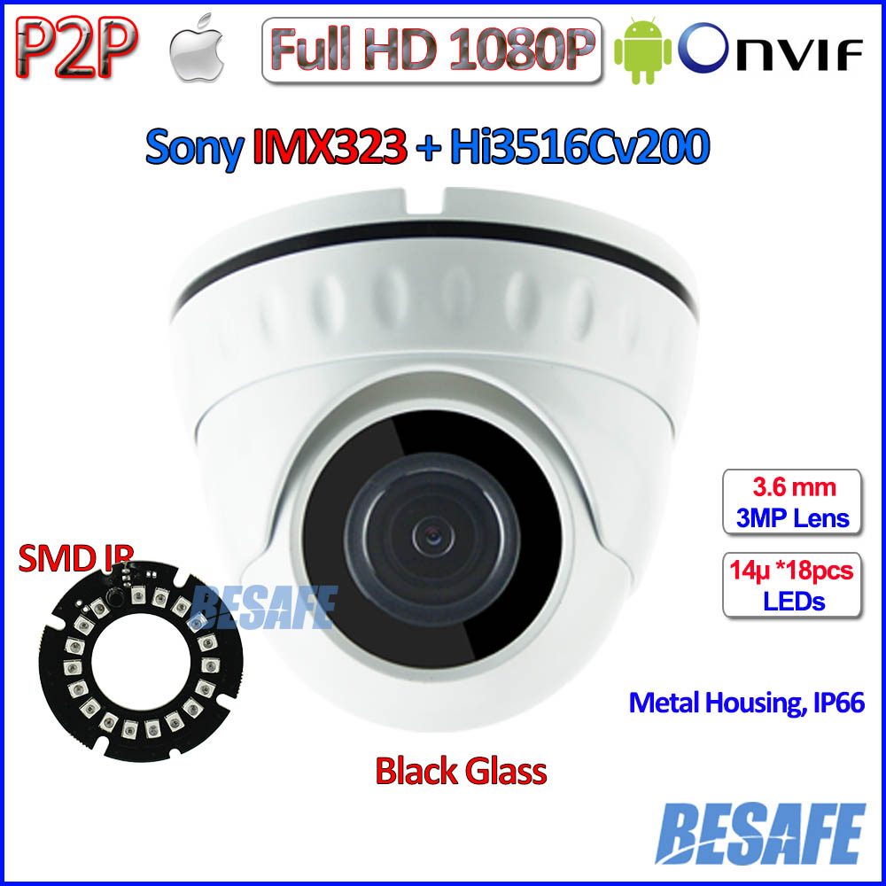 IMX323 Sensor 2MP CCTV camaras ip surveillance ONVIF 2 4 1080p ip camera Security 3 6mm