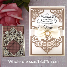13.3*9.7cm metal cutting dies cut die 2019 mold Lace card decoration Scrapbook stamps paper craft knife stencils die frame dies наушники sennheiser cx 350 bt white