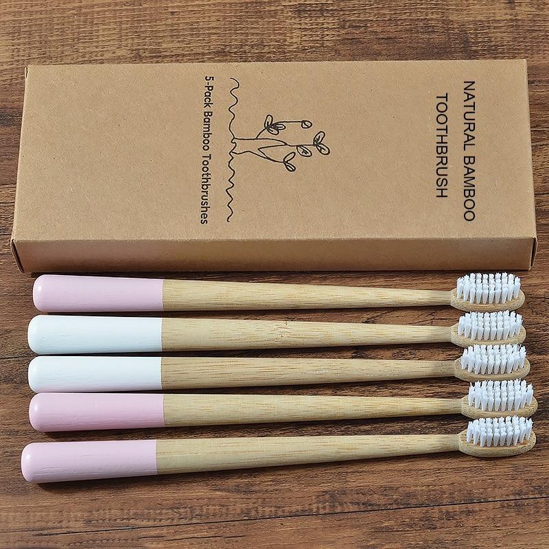 Новинка; 5 штук в партии; DuPont зубная щетка с щетиной Эко-дружественных бамбука зубная щетка для ухода за полостью рта электрическая зубная ще...