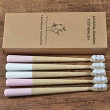 DuPont – lot de 5 brosses à dents écologiques en bambou, poils biodégradables, soins buccaux, nouveau