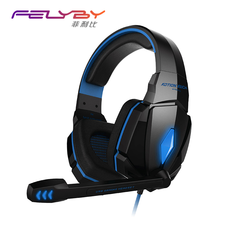 hot G4000 Gaming Headphones with Microphone LED Gaming Computer Gamer Wired Headset Noise Canceling with Microphone for PC phone deepdee gaming headset stereo headphones with microphone for xiaomi internet computer gamer noise canceling music bass headband