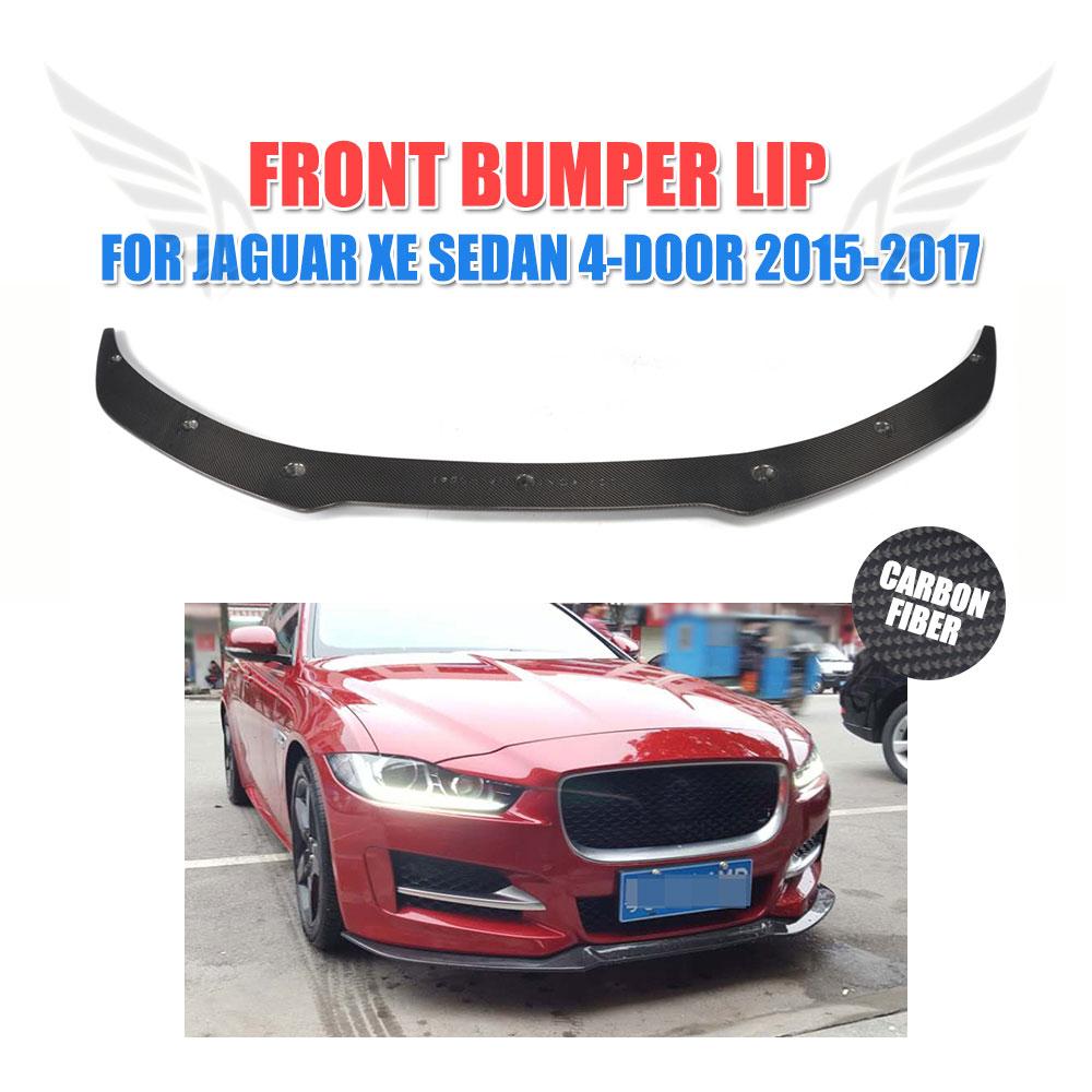 Carbon Fiber Front Lip Spoiler Chin for Jaguar XE Sedan 4-Door 2015-2017 Bumper Protection Car Tuning Parts