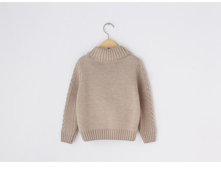 e3417d13d8bc lana Merino marca phoebee maglione 2-8 anni Dolcevita per un ragazzi  maglioni bambini inverno solido Khaki lavorato a maglia cardigan con tasche