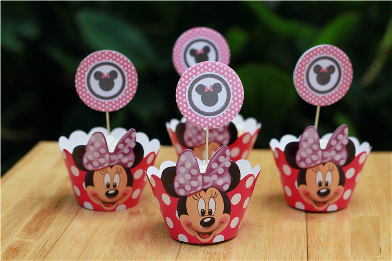 Outstanding 120Pcs Lot Minnie Mouse Cupcake Wrappers Decoration Birthday Party Funny Birthday Cards Online Necthendildamsfinfo