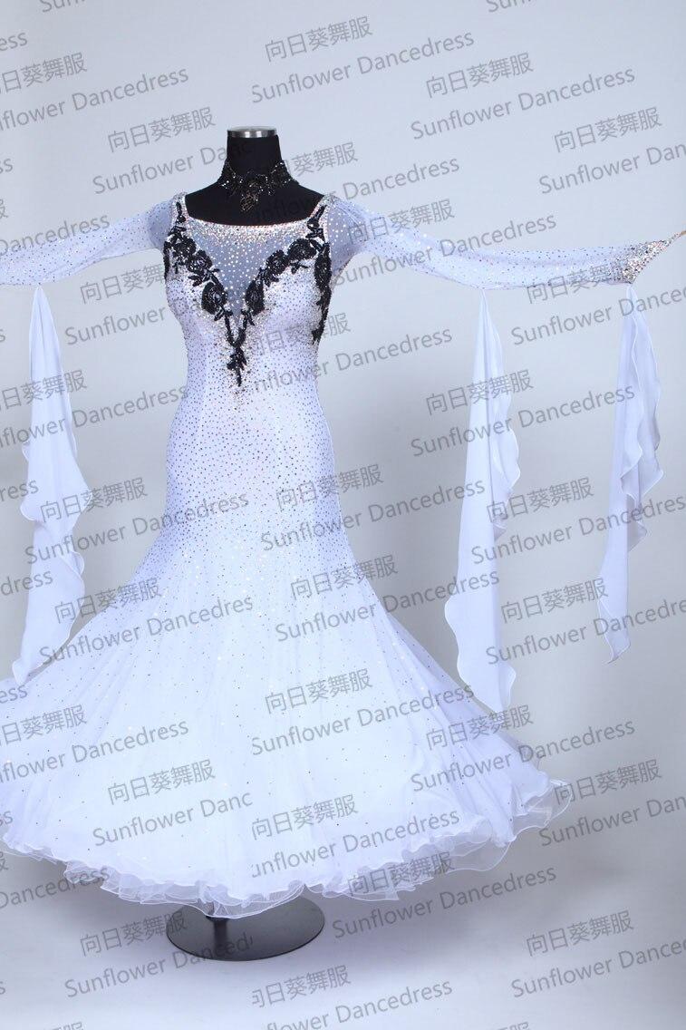 New Style!ballroom Dance Dress,Waltz Competition Dress,Standard dance dress,Modern Waltz Tango Ballroom Dance Dress,white color
