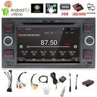 Pure 7Inch 2din Android 7.1 Car DVD Player GPS Navi Stereo Radio For C Max Connect Fiesta Fusion Galaxy Kuga Mondeo S Max Focus