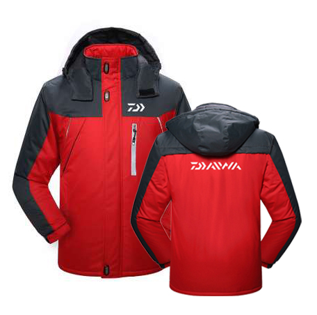 17f7b0f6751 2019 DAIWA Fishing Clothing Winter Fleece Warm Waterproof Fishing Jackets  Men Plus Size Fishing Clothes Sport