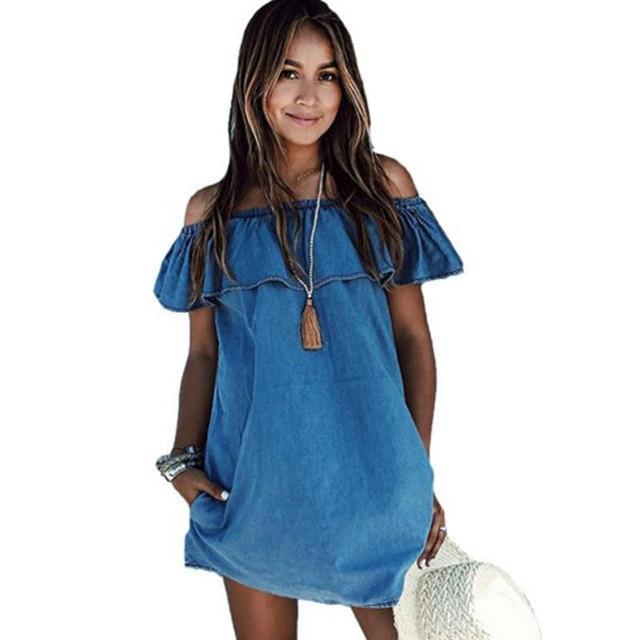 best supplier discount shop great fit Cute Plus Size Denim Dresses – Fashion dresses
