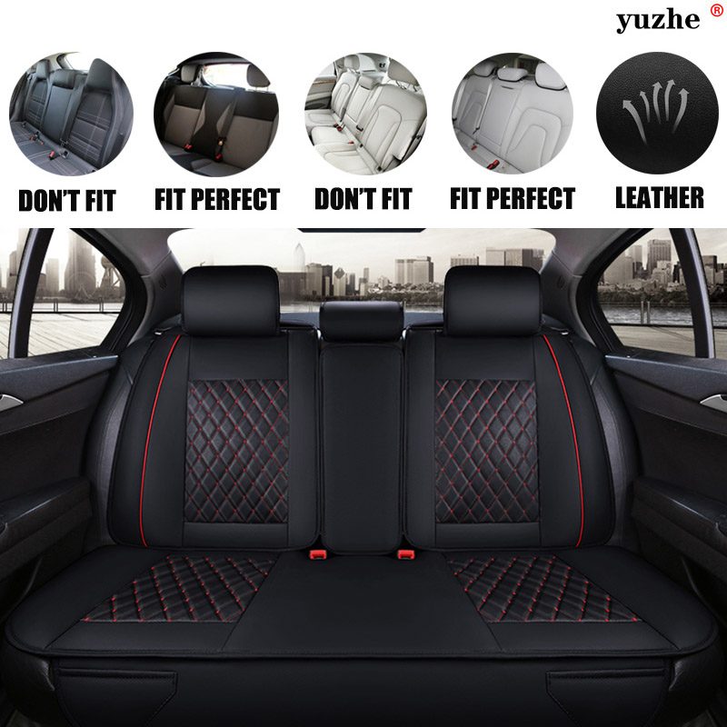 Yuzhe Leather car seat cover For Ford mondeo Focus 2 3 kuga Fiesta Edge Explorer fiesta fusion car accessories styling cushion tonlinker 3 pcs diy car styling pu leather full surround special food mat cover case stickers for ford fiesta 2013 accessories