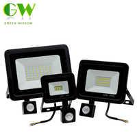 Projecteur extérieur de détecteur de mouvement LED de PIR AC220V 10W 30W 50W projecteur de LED étanche pour la lumière d'inondation de rue de mur de jardin