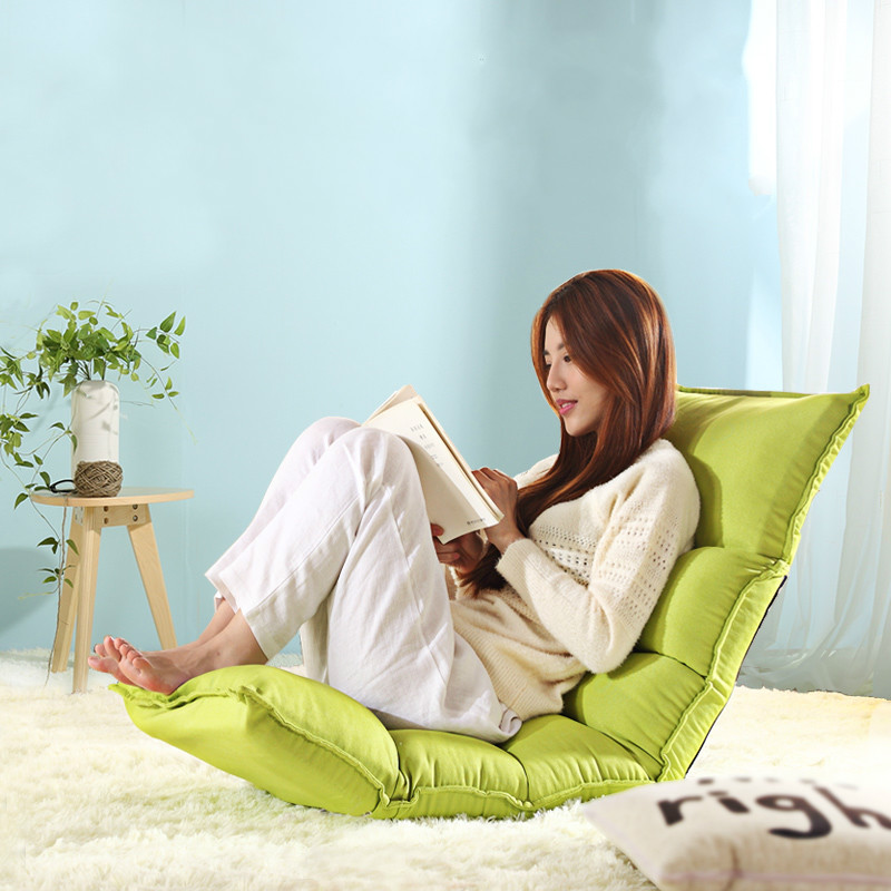 Multicolor Japanese-style cute single person lazy small sofa chair folding bed Tatami bedroom moon style beanbag beanbag sofa tatami chair single sofa bed dormitory windows and folding chairs