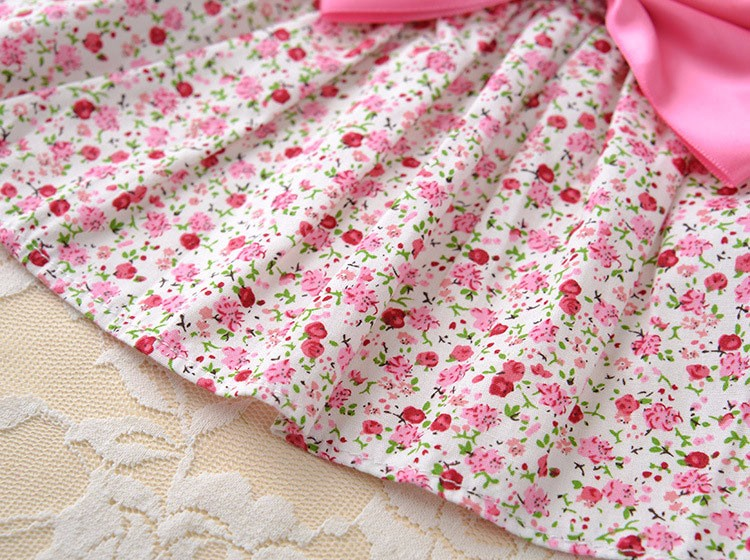 Cute Dog Dress Summer Soft Cotton Printing Bow Pet Puppy Clothes 9