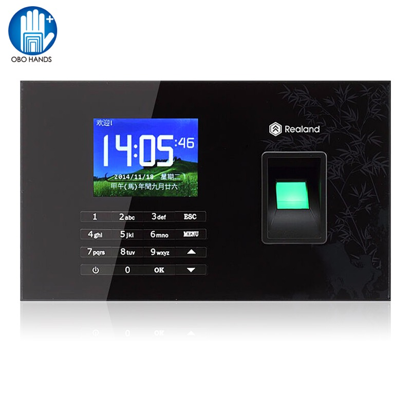 Realand TCP/IP USB Biometrics Fingerprint Time Attendance System Machine for Office Employee RFID Card Reader Free Software fingerprint real time security guard tour system for patrol verification