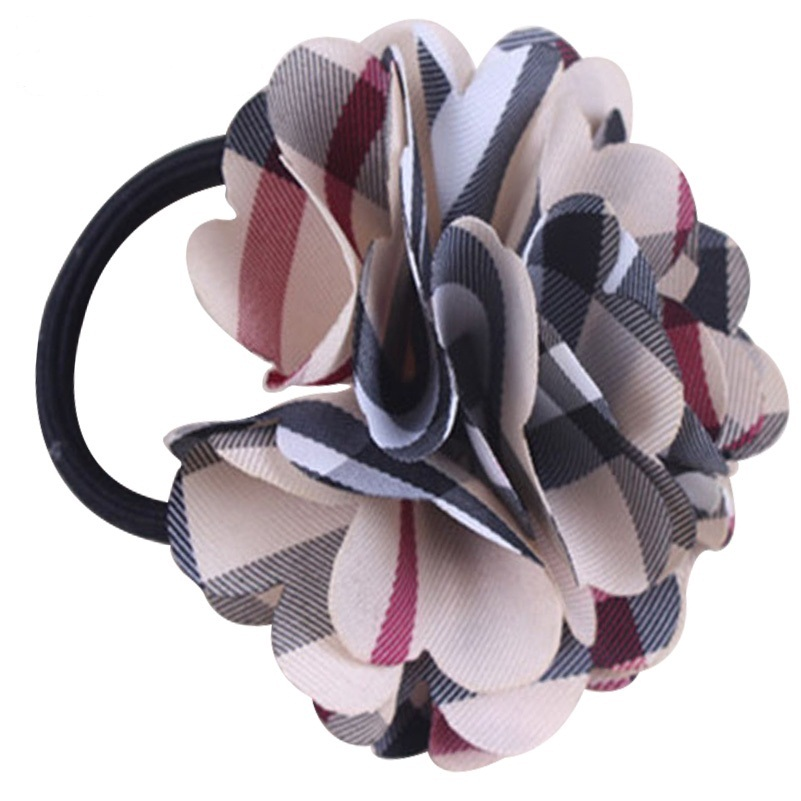 New Arrival Plaid Hair Ropes Womens Elastic band for girl hair Accessories Ribbon Bow Headwear Tie Rope Hair Bands 10pcs sweet diy boutique bow headbands elastic head band children girl hair accessories headwear wholesale