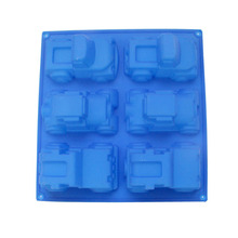 3D Car Silicone Soap Mold 6-Cavity Candy Chocolate Mould DIY Handmade Cake Baking Tools