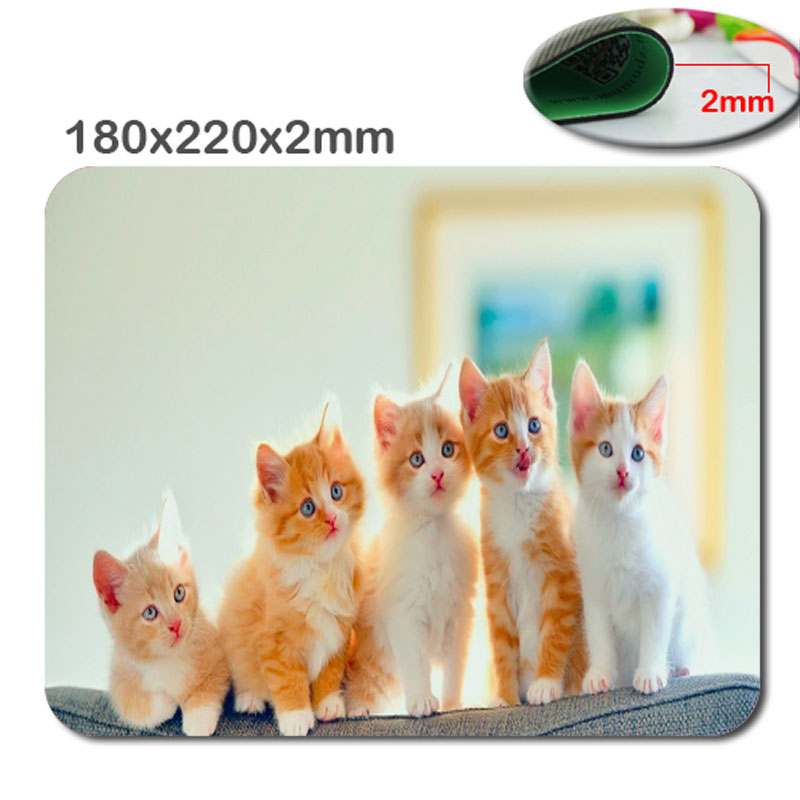 New Arrival Top Selling Print Animal Cute Kitten Design High Quality Durable Fashion Computer and Laptop Gaming Mouse Pad