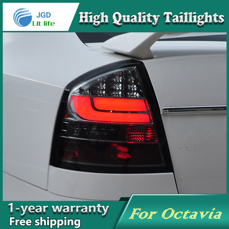 Car Styling Tail Lamp for Skoda Octavia 2007-2012 taillights Tail Lights LED Rear Lamp LED DRL+Brake+Park+Signal Stop Lamp free shipping for skoda octavia sedan a5 2005 2006 2007 2008 left side rear lamp tail light