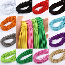 5m/lot 2mm Colorful High-Quality Round Elastic Band Rope Rubber Line DIY Sewing Accessories