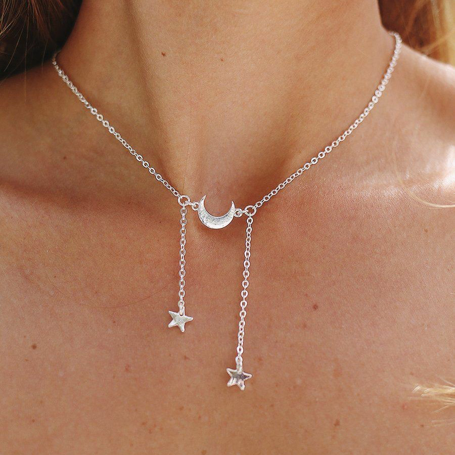 Ladies Crystal Tassel New Charm Metal Clavicle Chain Pendant Necklace Jewelry