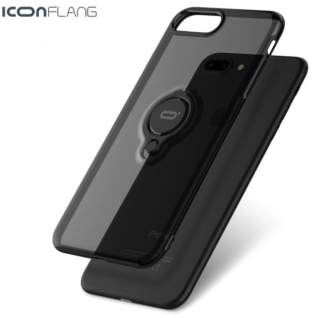 Case for iPhone 7 7 Plus ,Jet Black Soft TPU Bumper Crystal Clear Shockproof Hard PC cover Hybrid Case for iPhone7 7Plus