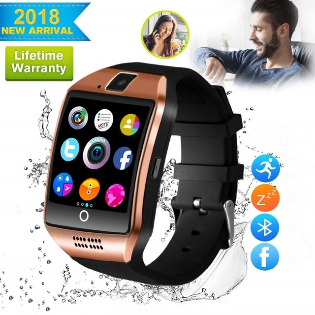 dc719a865bf731 2018 Best Bluetooth Android Smart Watch Touch Screen Larger LED Fitness  Tracker Mobile Cell Phone Smartwatch for Men Smat Watch