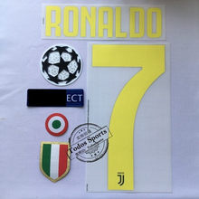 2018-19 Juventus home RONALDO 7 nameset +back sponsor RONALDO 7 Serie A patch+red coppa Italia Circle + chest Scudetto patches(China)