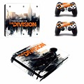 Tom clancy's the division vinyl PS4 Slim Skin Protector Sticker Cover Decal for Playstation 4 PS4 Slim Console For 2 controller